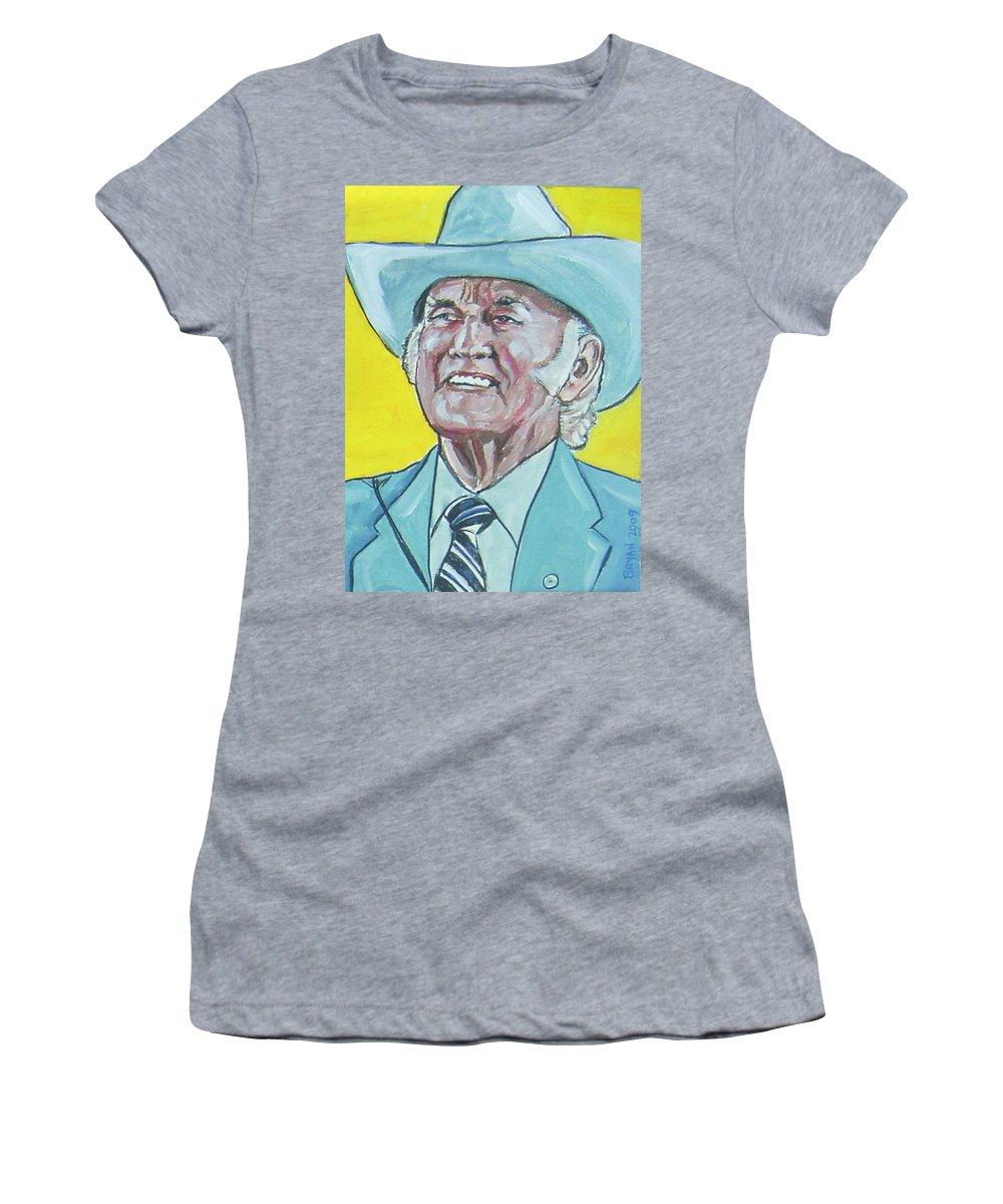 Bill Monroe Women's T-Shirt featuring the painting Bill Monroe by Bryan Bustard