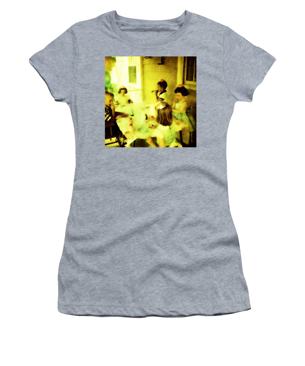 Birthday Women's T-Shirt featuring the digital art Birthday Party by Cathy Anderson