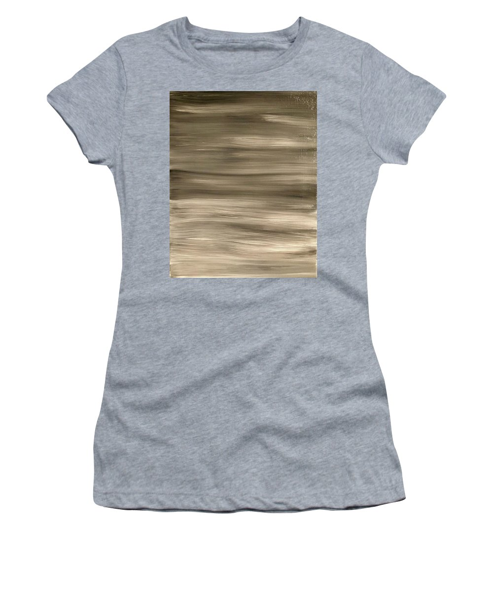 Black Women's T-Shirt (Athletic Fit) featuring the painting Black Fade by Marcus Mabry