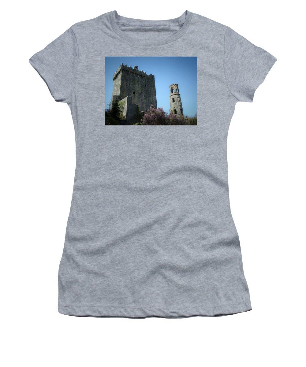 Irish Women's T-Shirt featuring the photograph Blarney Castle And Tower County Cork Ireland by Teresa Mucha