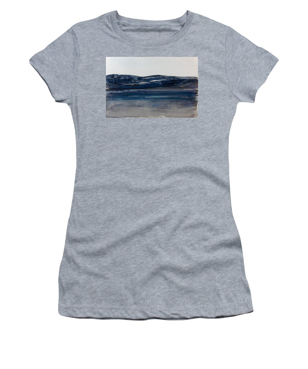Easte Coast Watercolour Women's T-Shirt featuring the painting Blue Headland Back Home by Desmond Raymond