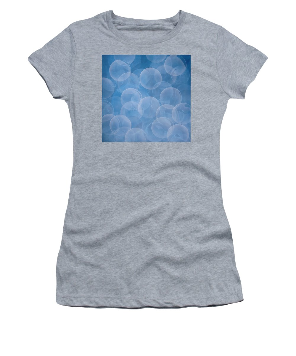 Abstract Women's T-Shirt (Athletic Fit) featuring the painting Blue by Jitka Anlaufova