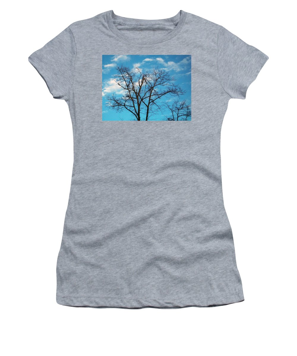 Tree Women's T-Shirt featuring the photograph Blue Sky by Munir Alawi