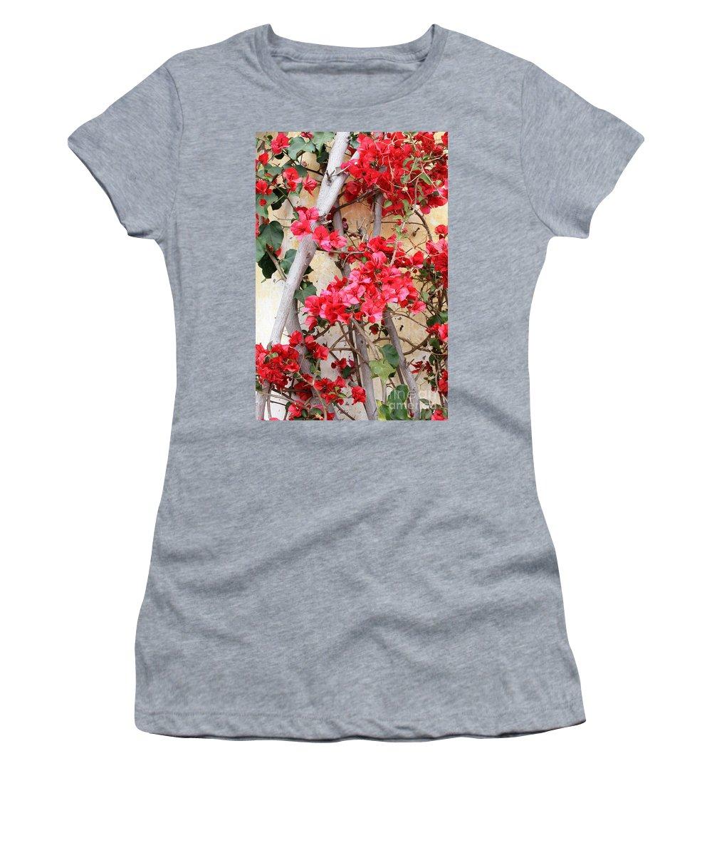 Bougainvilla Women's T-Shirt featuring the photograph Bougainvillea by Carol Groenen