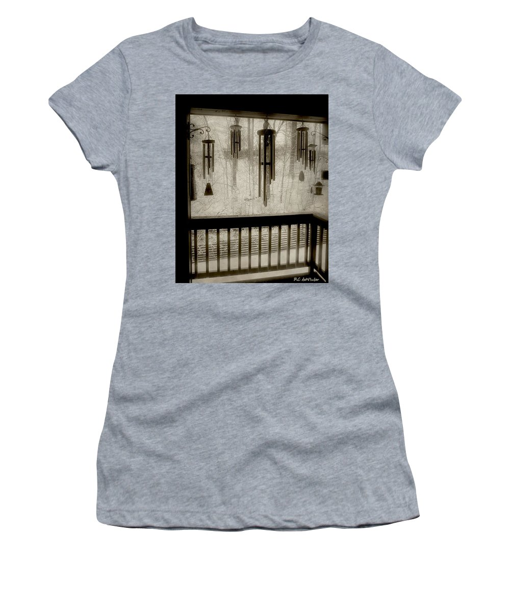Balcony Women's T-Shirt featuring the photograph Breathe Deep The Gathering Gloom by RC DeWinter