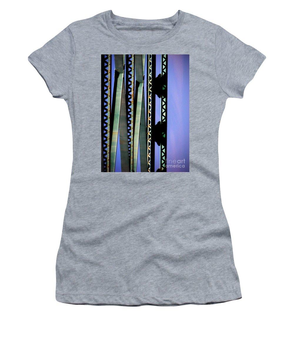 Bridge Women's T-Shirt (Athletic Fit) featuring the photograph Bridge by Amanda Barcon
