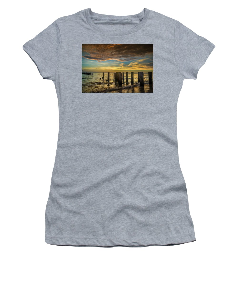 Bridge Women's T-Shirt (Athletic Fit) featuring the photograph Bridge Of The Past by Marco Zottich