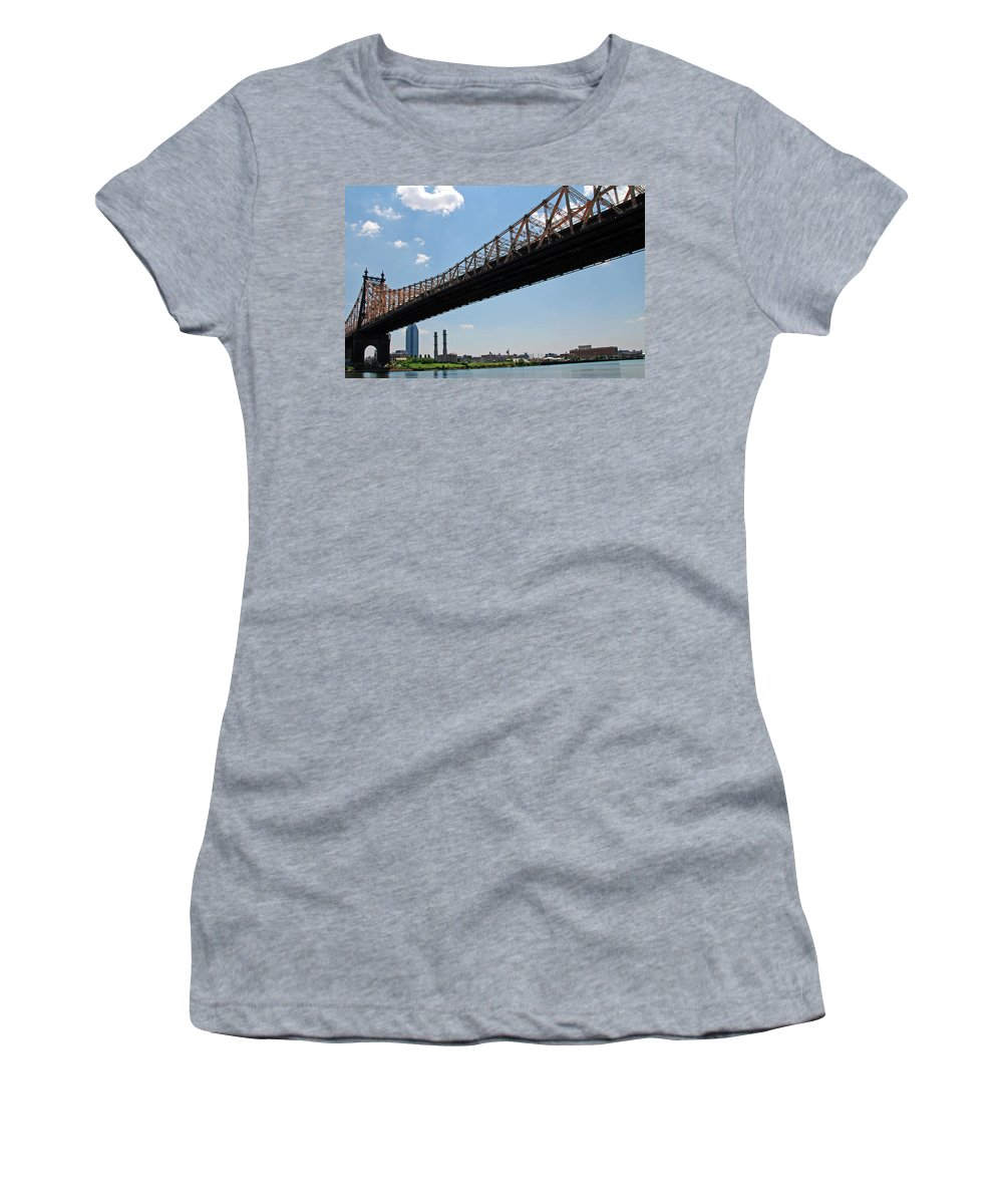 Urban Women's T-Shirt (Athletic Fit) featuring the photograph Bridge by Rick Selin