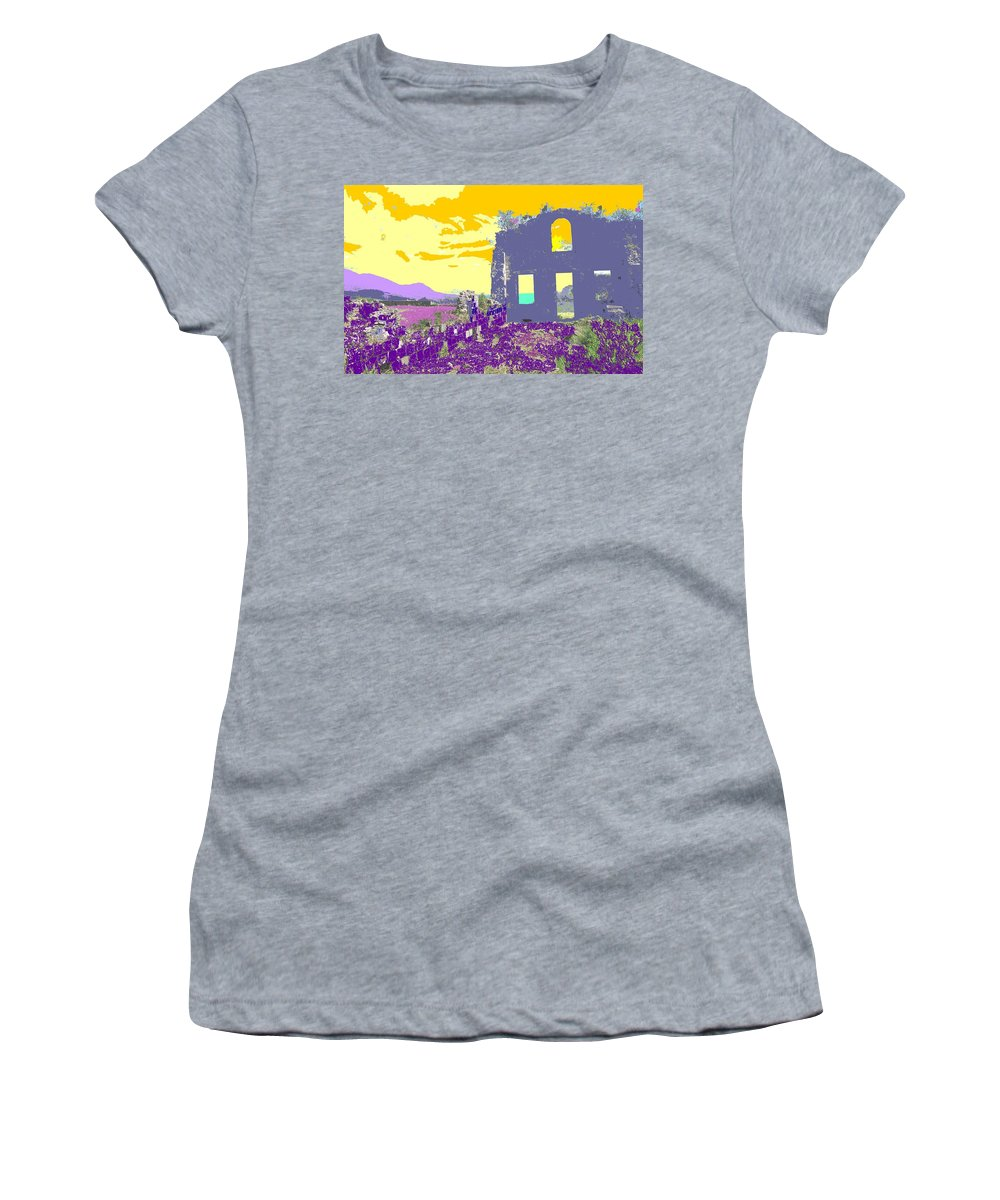 Brimstone Women's T-Shirt (Athletic Fit) featuring the photograph Brimstone Sunset by Ian MacDonald