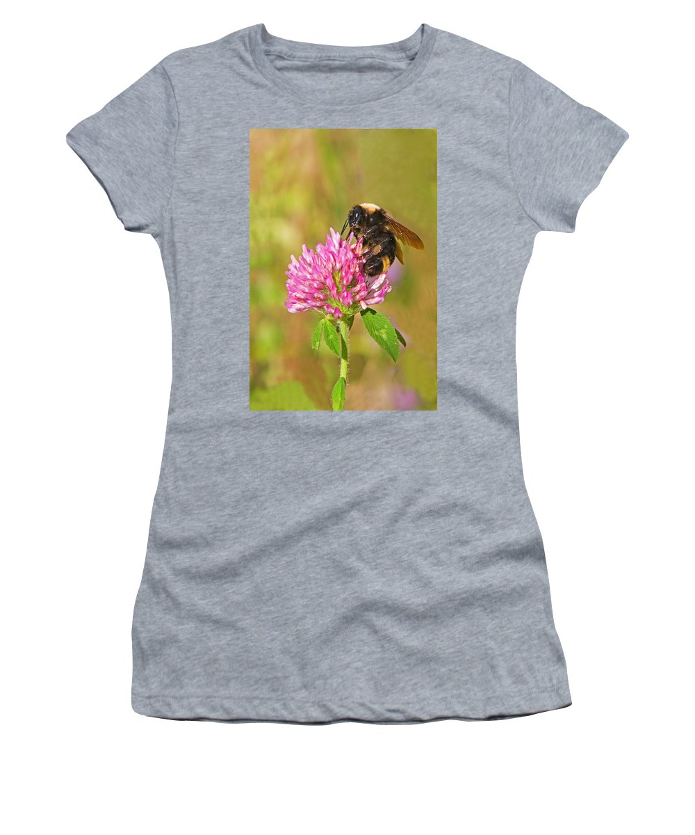 Bumble Bee Women's T-Shirt (Athletic Fit) featuring the photograph Bumble Bee by Randall Ingalls
