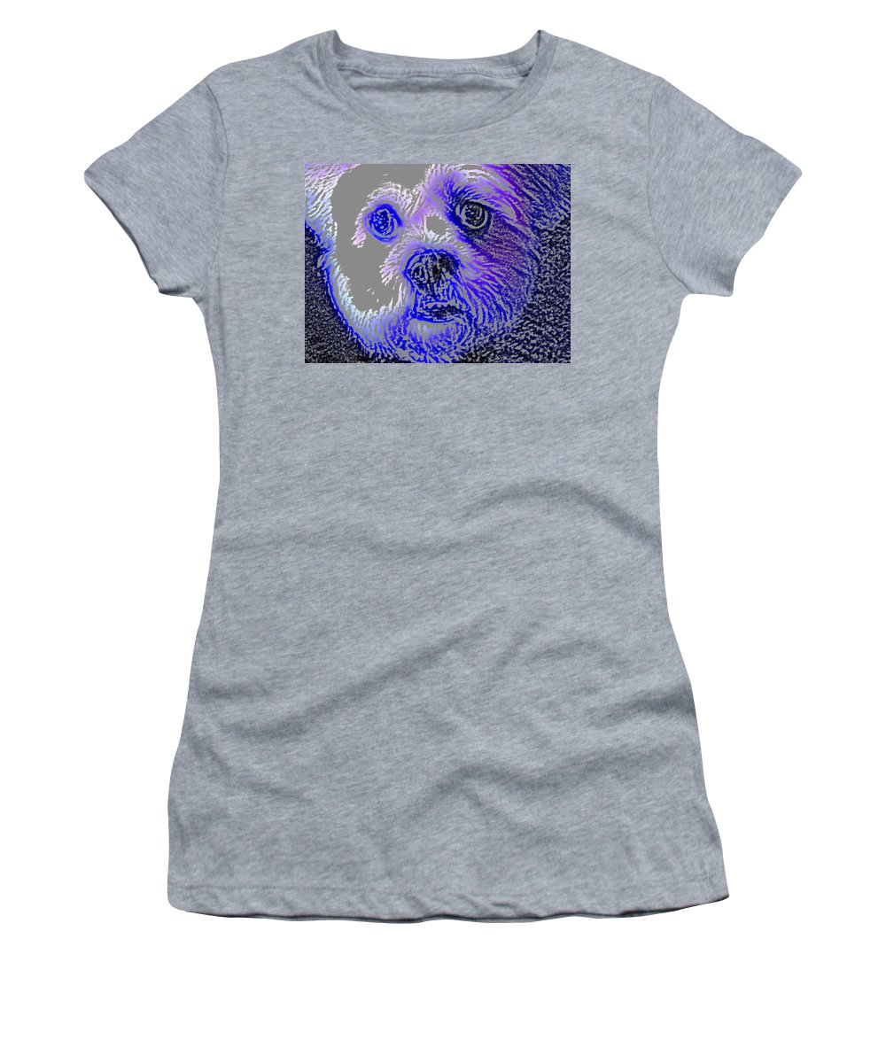 Dog Women's T-Shirt (Athletic Fit) featuring the photograph Buster Photo by Wayne Potrafka