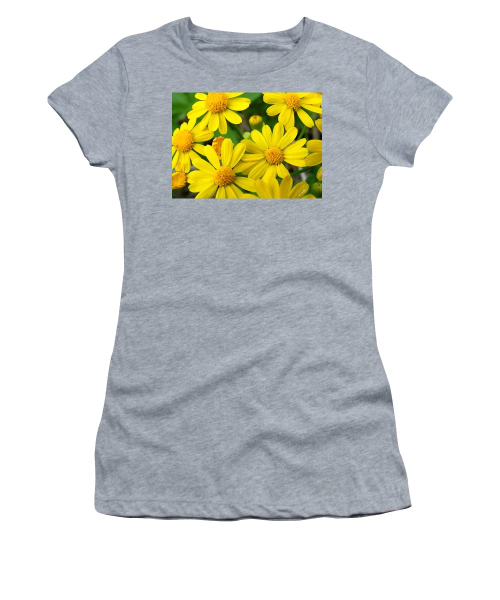 Butter Fields Women's T-Shirt (Athletic Fit) featuring the photograph Butter Fields by Ed Smith