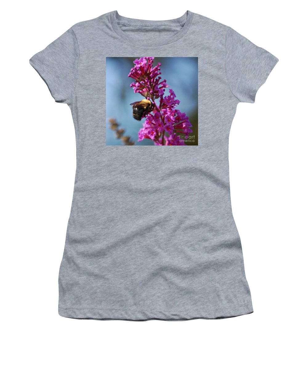 Bee Women's T-Shirt featuring the photograph Buzzed by Debbi Granruth
