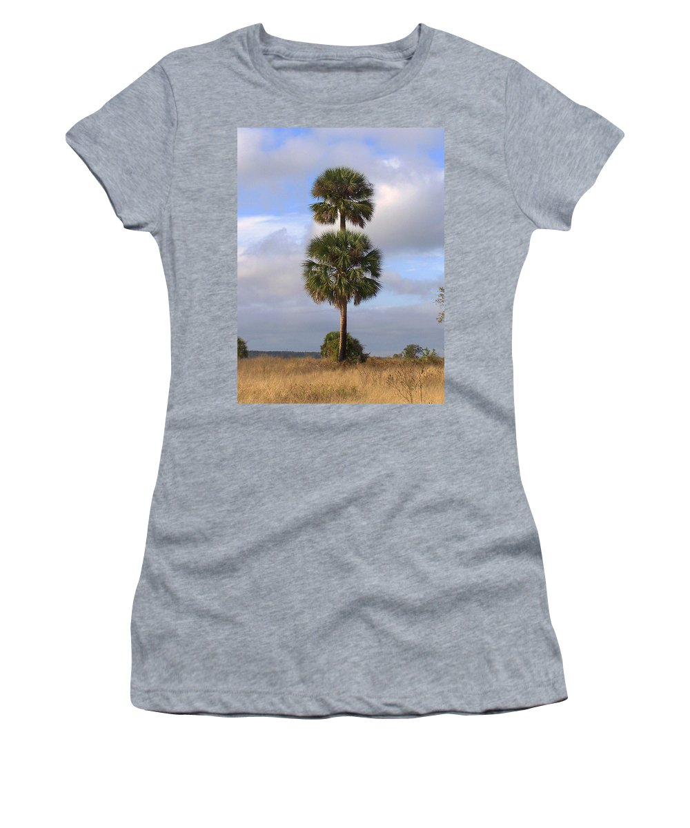Nature Women's T-Shirt (Athletic Fit) featuring the photograph Cabbage Palms by Peg Urban