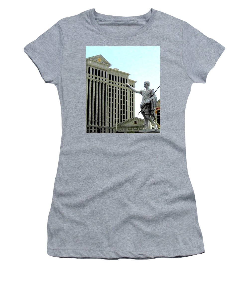 Caesars Palace Women's T-Shirt (Athletic Fit) featuring the photograph Caesars Palace by Will Borden