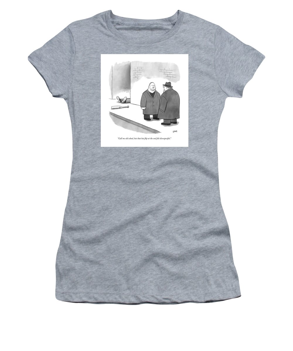"""""""call Me Old School Women's T-Shirt featuring the drawing Call me old school but that bat flip at the end felt disrespectful by Christian Lowe"""
