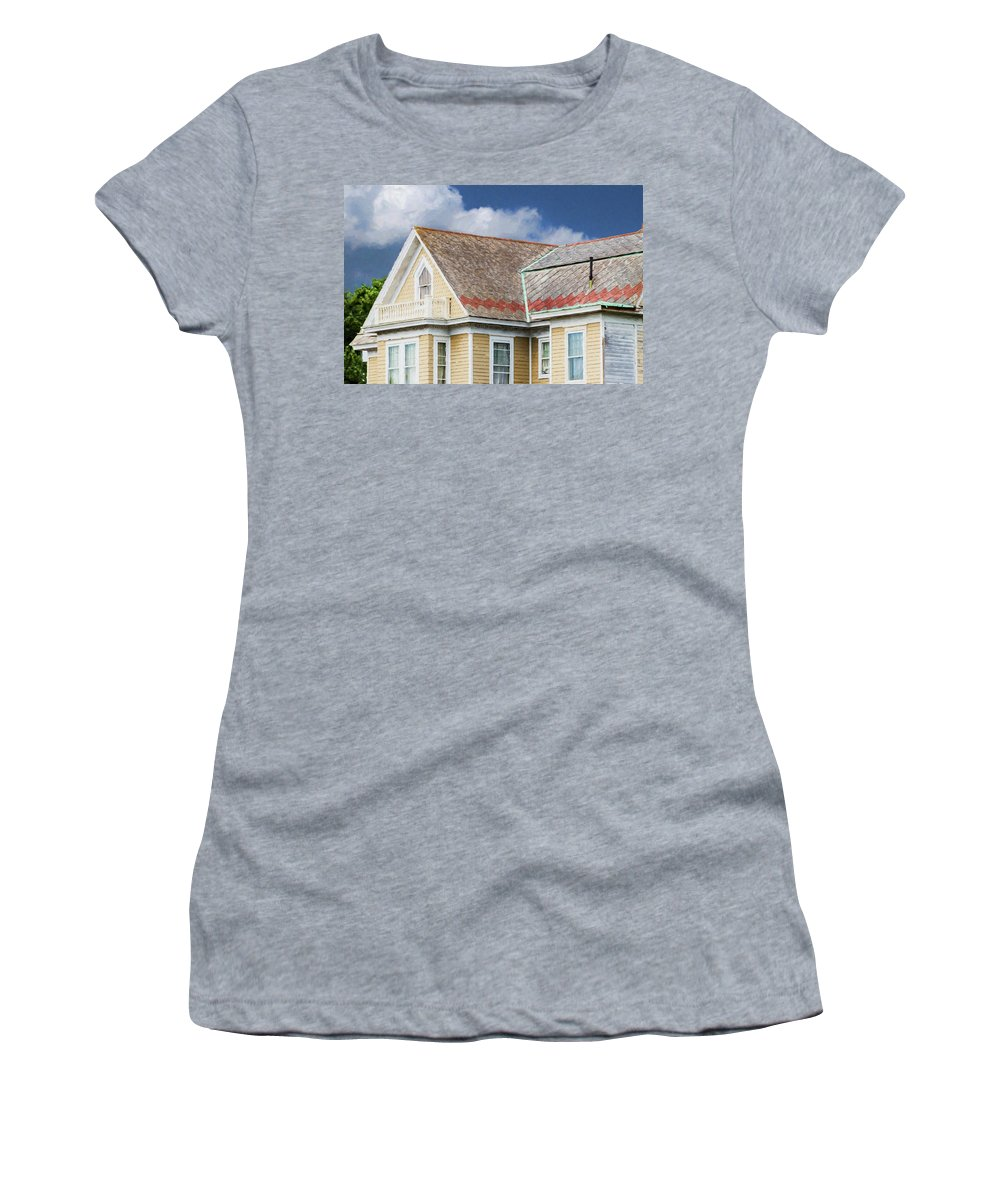 Cape May Women's T-Shirt (Athletic Fit) featuring the painting Cape May Summer 2015 by John Prause