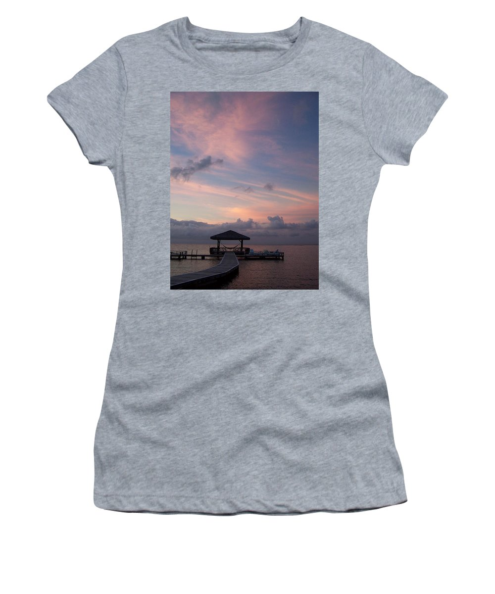 Ocean Women's T-Shirt (Athletic Fit) featuring the photograph Caribbean Sunrise by Gale Cochran-Smith