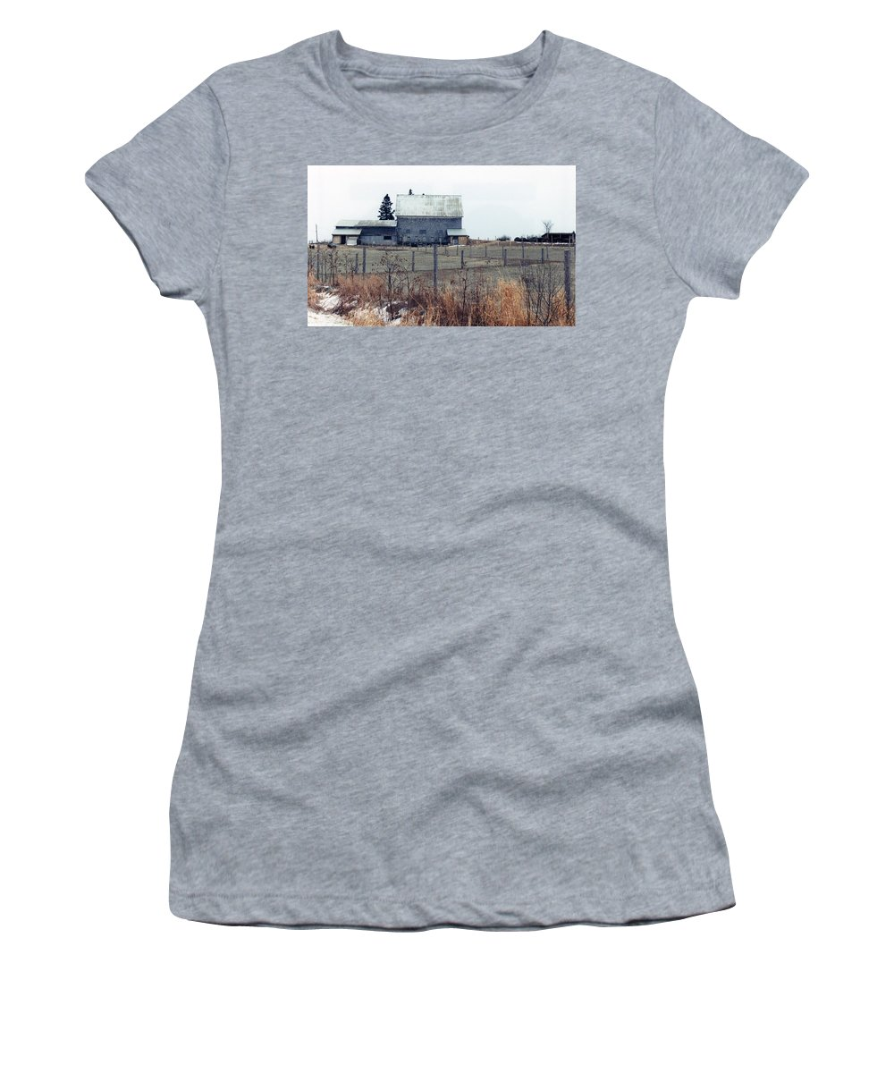 Maine Women's T-Shirt (Athletic Fit) featuring the photograph Caribou Maine by Nancie DeMellia