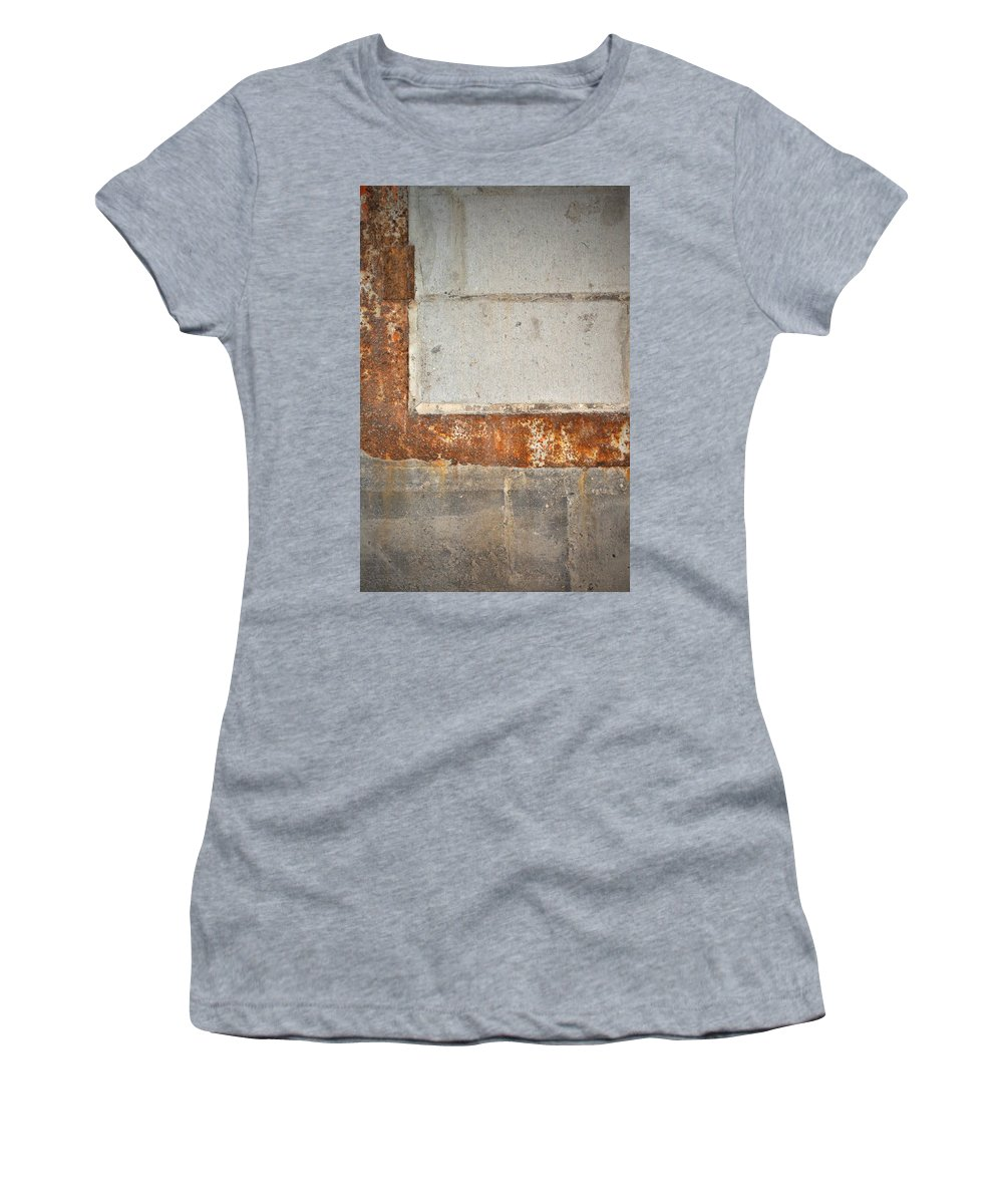 Architecture Women's T-Shirt featuring the photograph Carlton 14 - Abstract Concrete Wall by Tim Nyberg