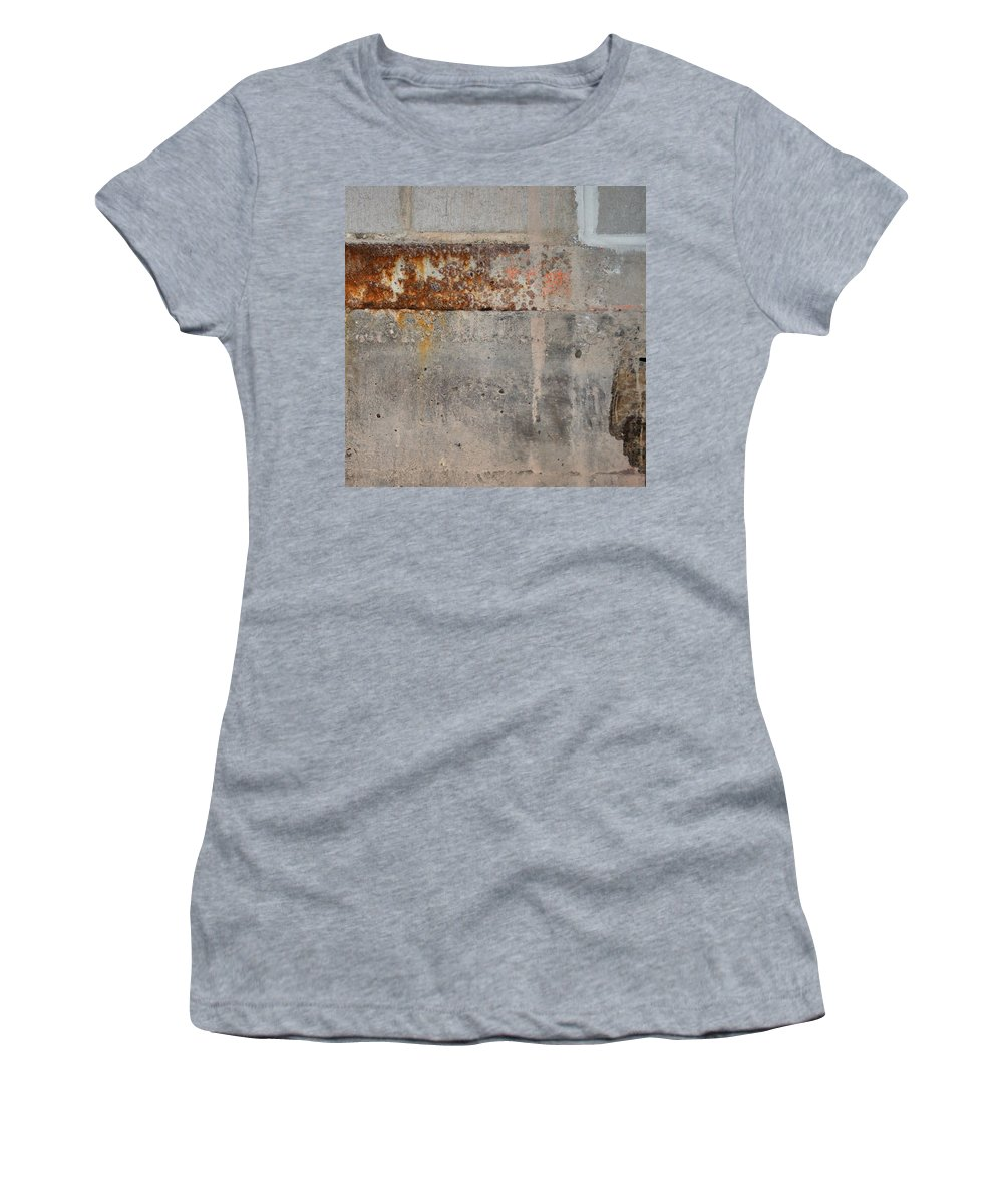 Concrete Women's T-Shirt featuring the photograph Carlton 16 Concrete Mortar And Rust by Tim Nyberg