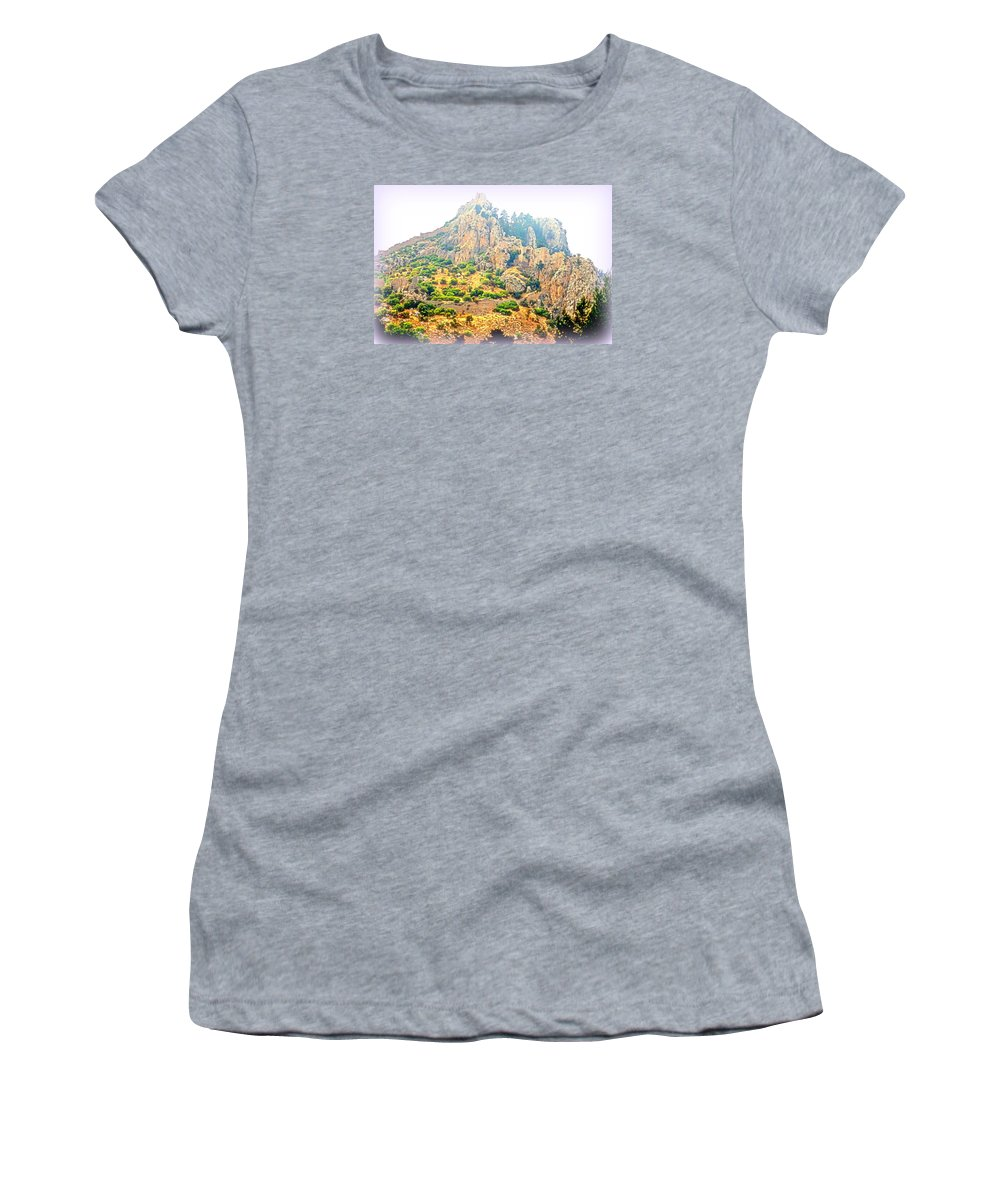 Troll Women's T-Shirt featuring the photograph We Were Walking The Whole Way Up To The Old Castle by Hilde Widerberg