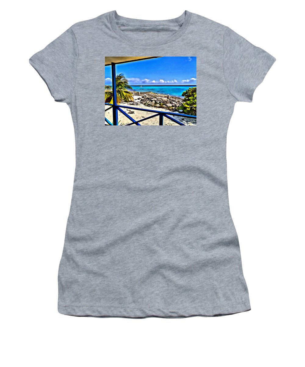 Cat Island Women's T-Shirt featuring the digital art Cat Island House by Anthony C Chen