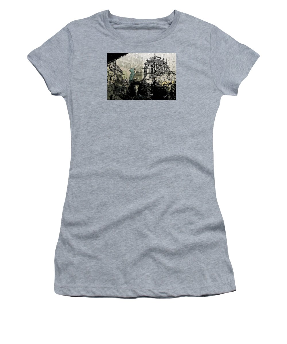 Church Women's T-Shirt (Athletic Fit) featuring the photograph Ch-urchins by Rahoul Chauhaan