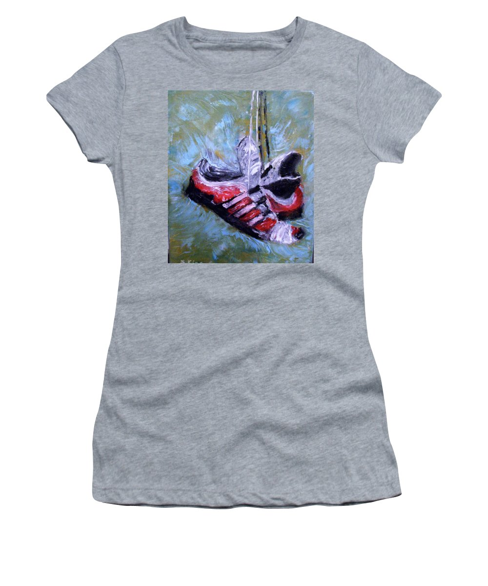 Still Life Women's T-Shirt (Athletic Fit) featuring the painting Champion by Stephen King