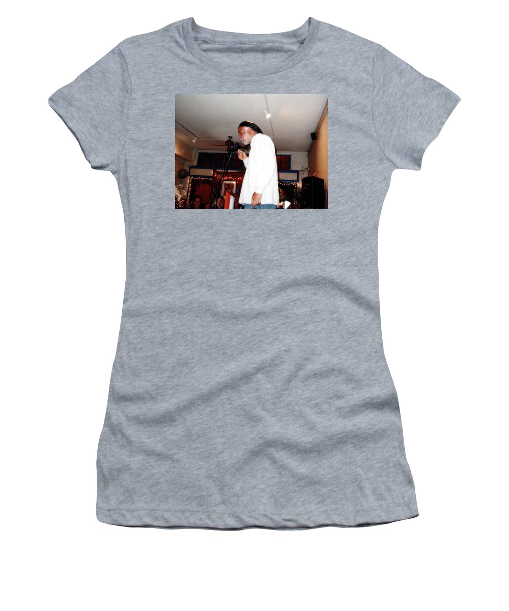 Portrait Women's T-Shirt (Athletic Fit) featuring the photograph Charles At Lunas 2 by Lee Santa