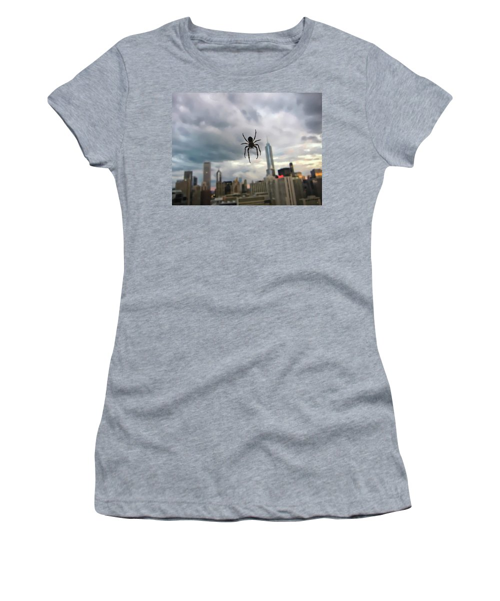 Spider Women's T-Shirt featuring the photograph Chicago-room With A View by Douglas Barnard