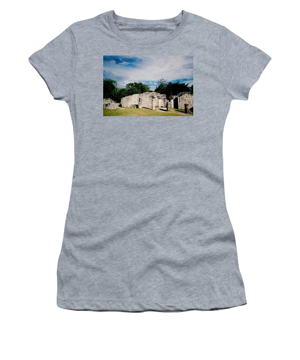 Chitchen Itza Women's T-Shirt (Athletic Fit) featuring the photograph Chichen Itza 2 by Anita Burgermeister