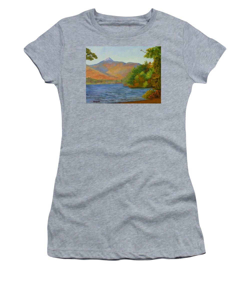 Mount Chocorua And Chocorua Lake Women's T-Shirt featuring the painting Chocorua by Sharon E Allen