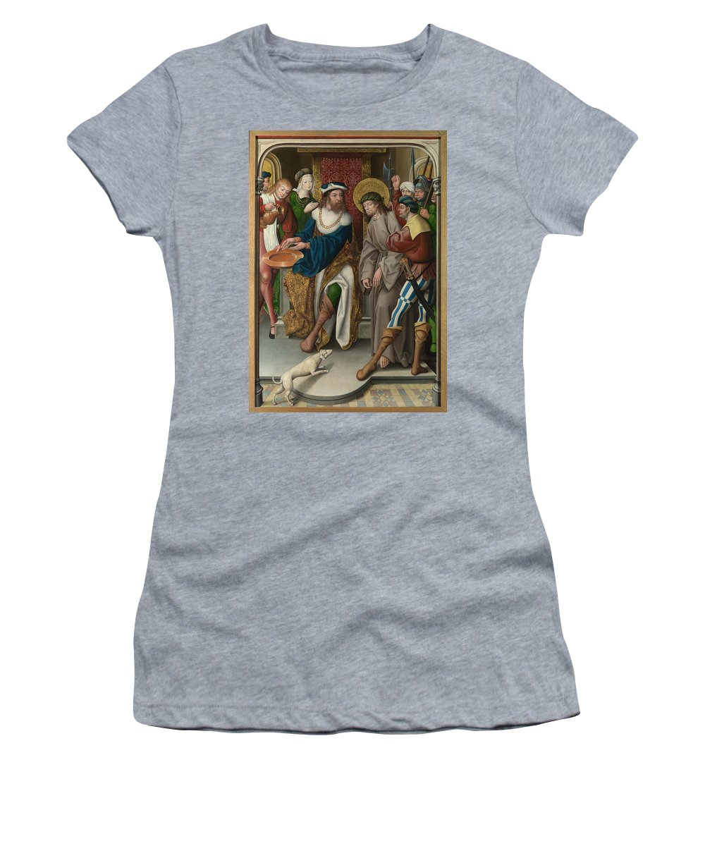 Master Women's T-Shirt (Athletic Fit) featuring the digital art Christ Before Pilate by PixBreak Art