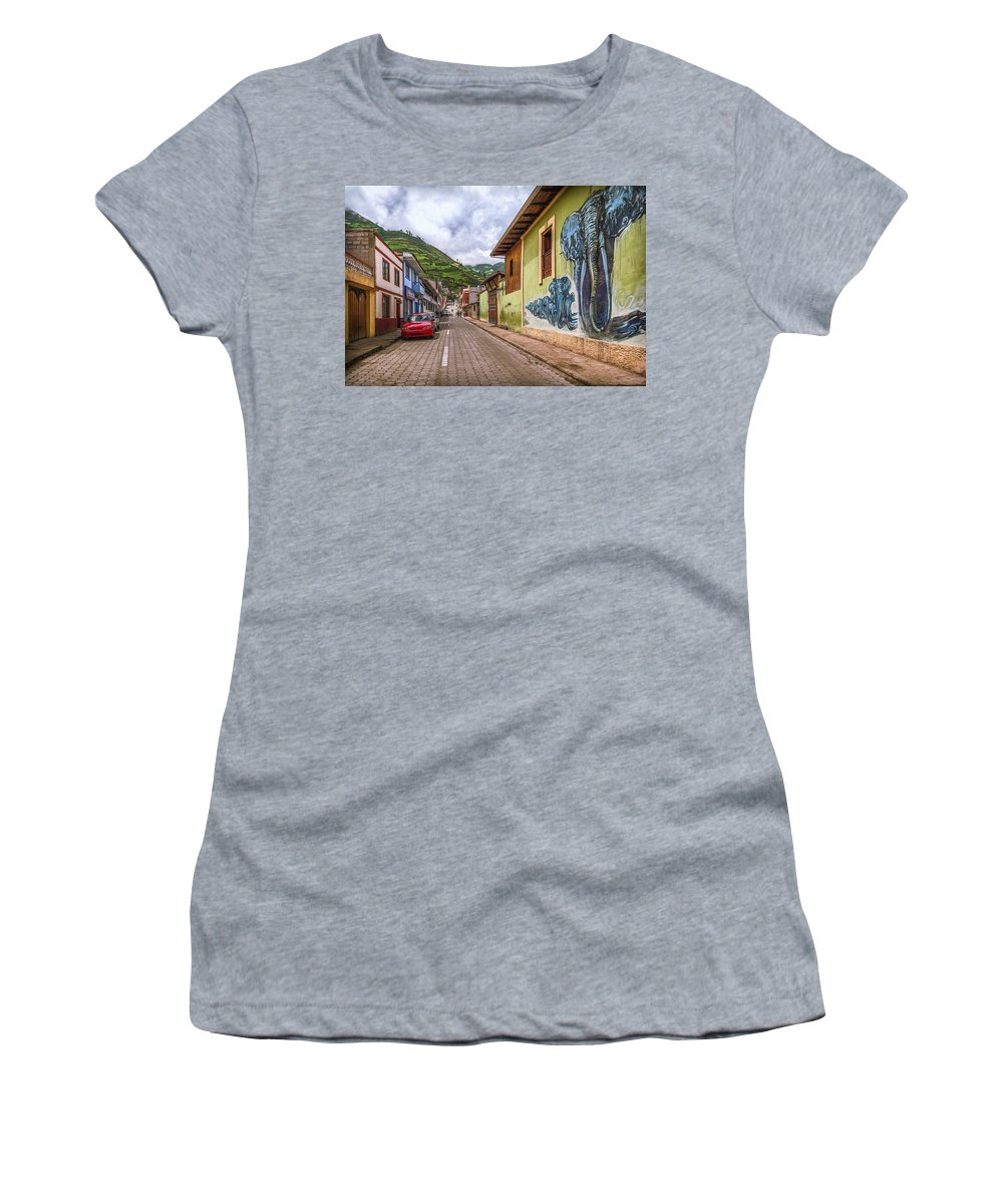 Architecture Women's T-Shirt featuring the photograph Chunchi Street by Maria Coulson