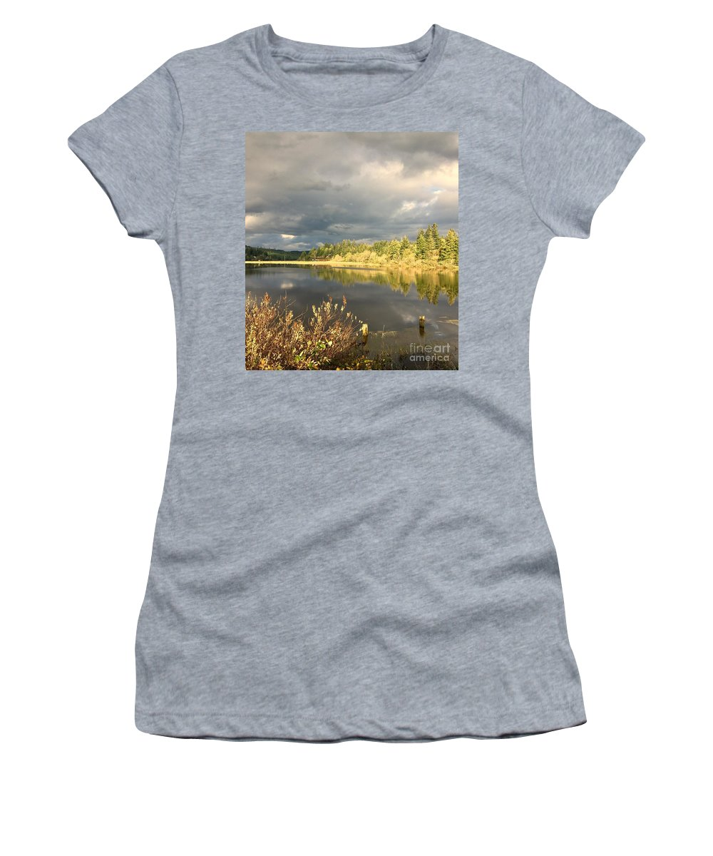 Landscape Women's T-Shirt (Athletic Fit) featuring the photograph Citrine by Barbara Ballantine