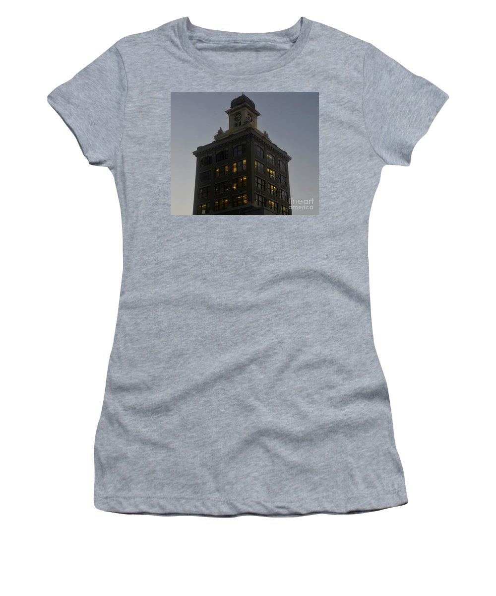 City Hall Women's T-Shirt (Athletic Fit) featuring the photograph City Hall by David Lee Thompson