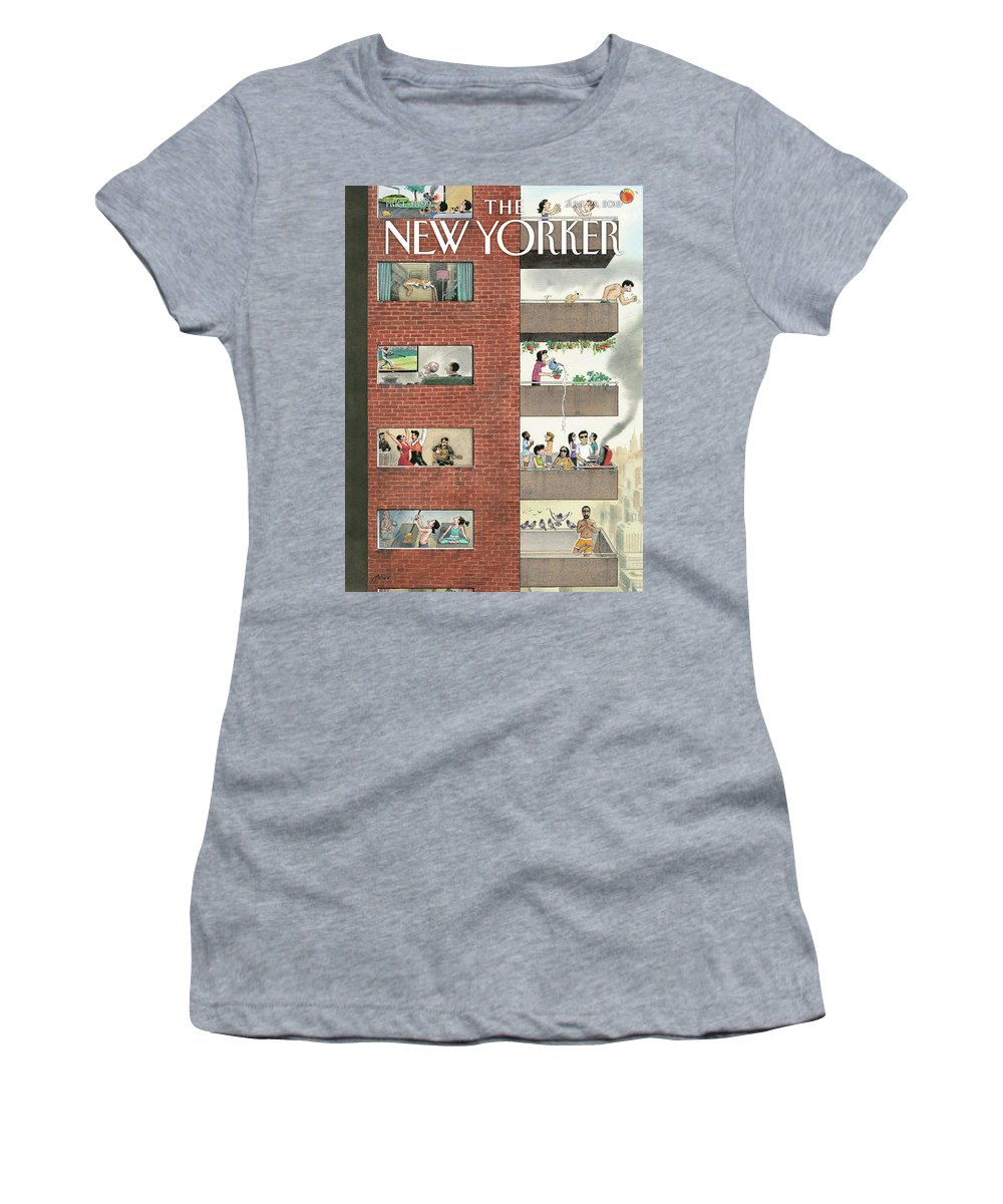 City Living Women's T-Shirt featuring the drawing City Living by Harry Bliss