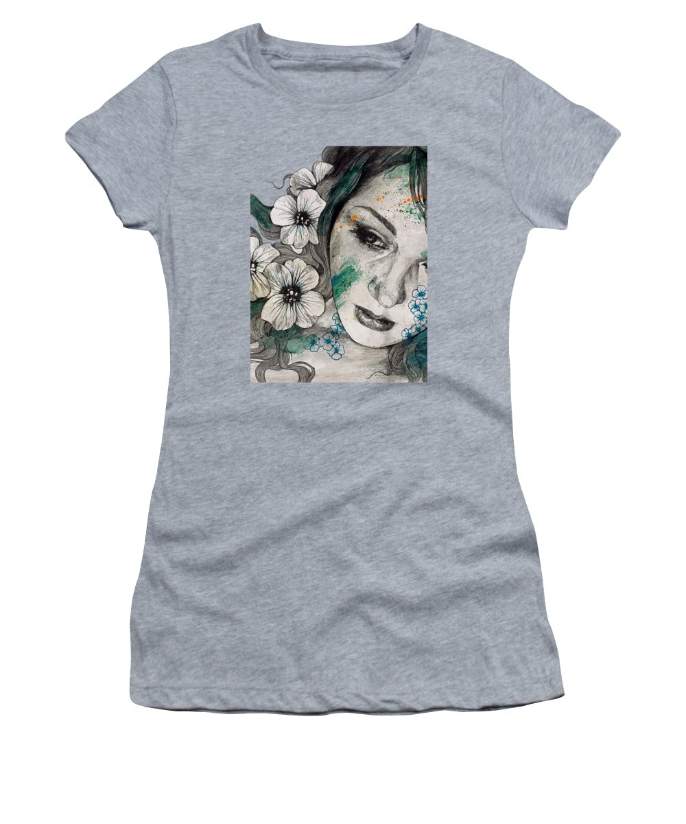 Street Art Women's T-Shirt featuring the drawing Cleopatra's Sling by Marco Paludet