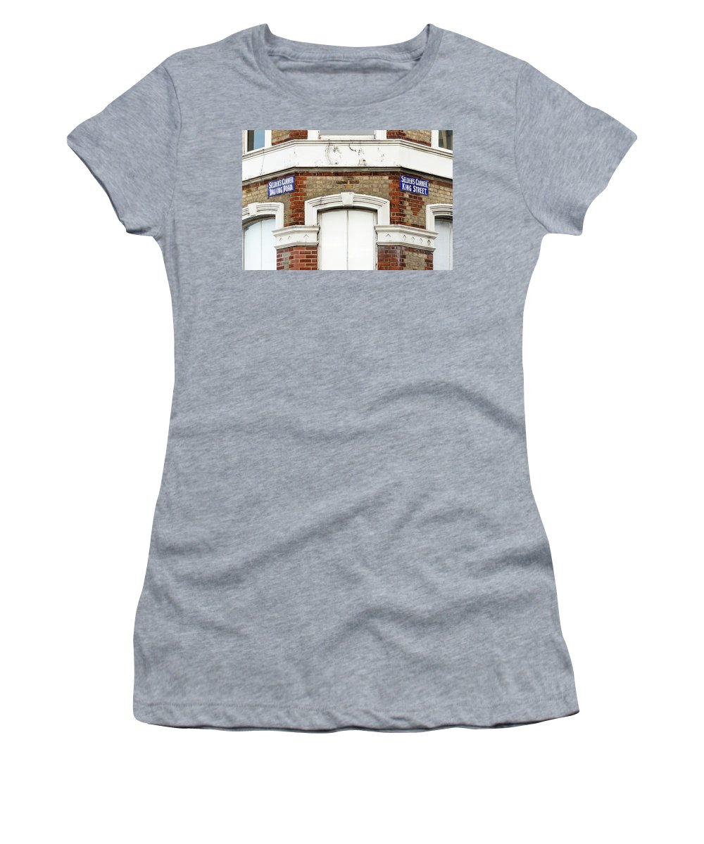 Architecture Women's T-Shirt (Athletic Fit) featuring the photograph Close Up Of Seldens Corner by Jacek Wojnarowski