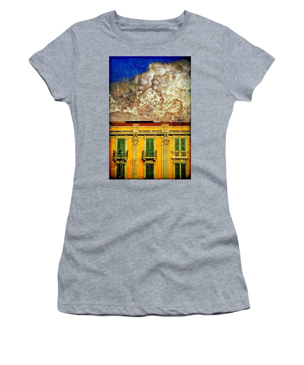 Building Women's T-Shirt (Athletic Fit) featuring the photograph Cloud Like Whipped Cream by Silvia Ganora