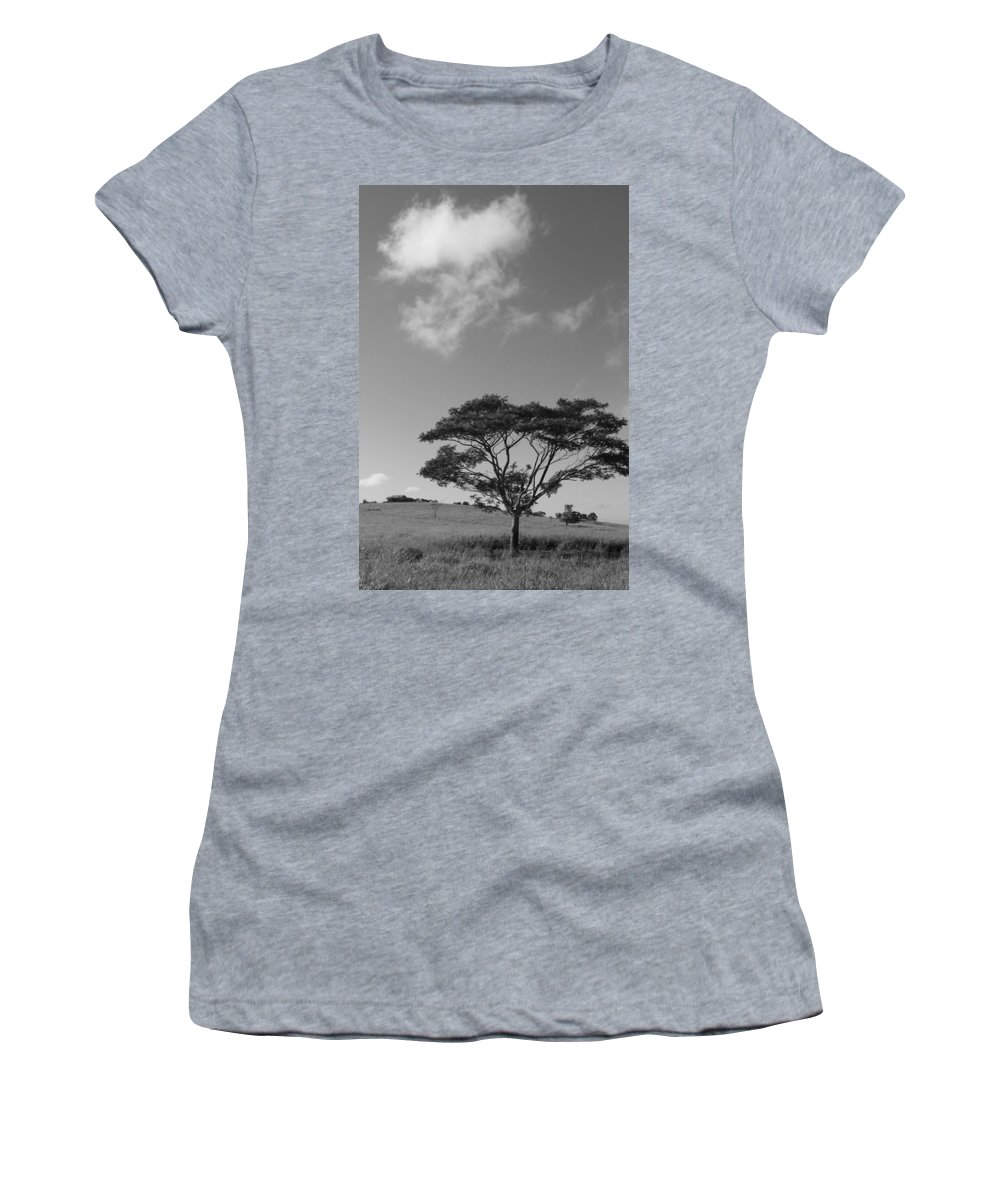 Sky Women's T-Shirt (Athletic Fit) featuring the photograph Cloud Shadow by Lauri Novak