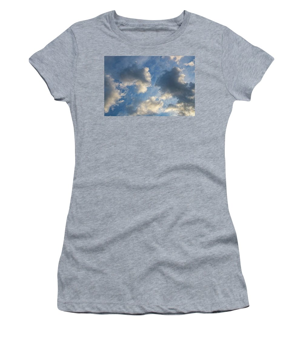 Clouds Women's T-Shirt (Athletic Fit) featuring the photograph Clouds 03.26.2017 7061t by Doug Berry