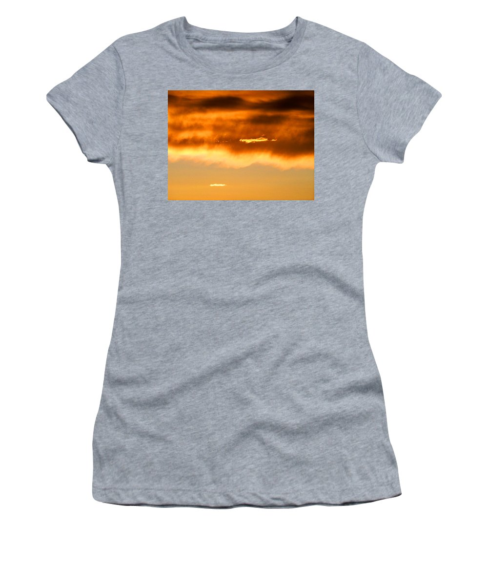 Sunset Women's T-Shirt (Athletic Fit) featuring the photograph Clouds At Sunset by Brian Commerford