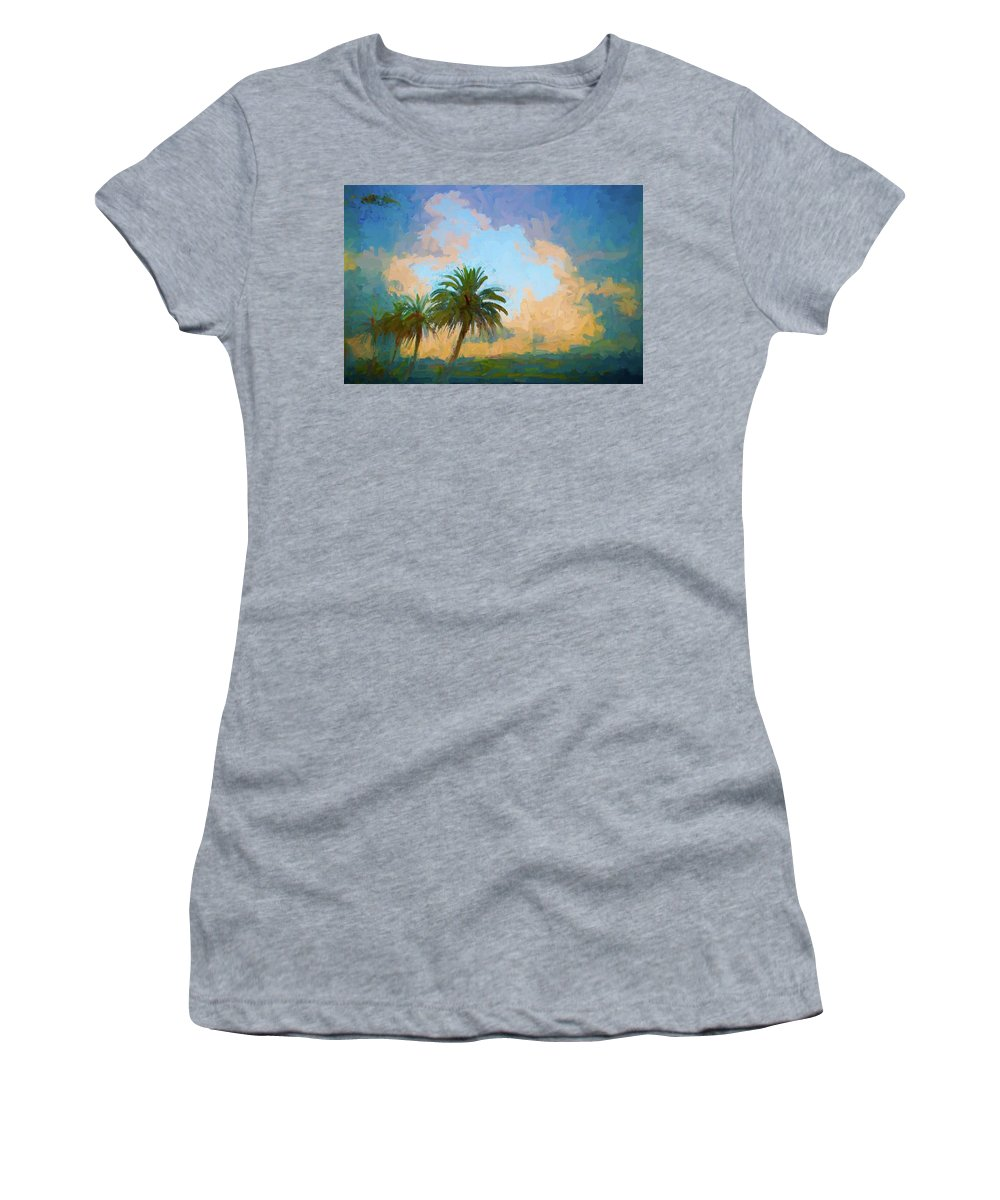 Alicegipsonphotographs Women's T-Shirt featuring the photograph Clouds On The Loop by Alice Gipson