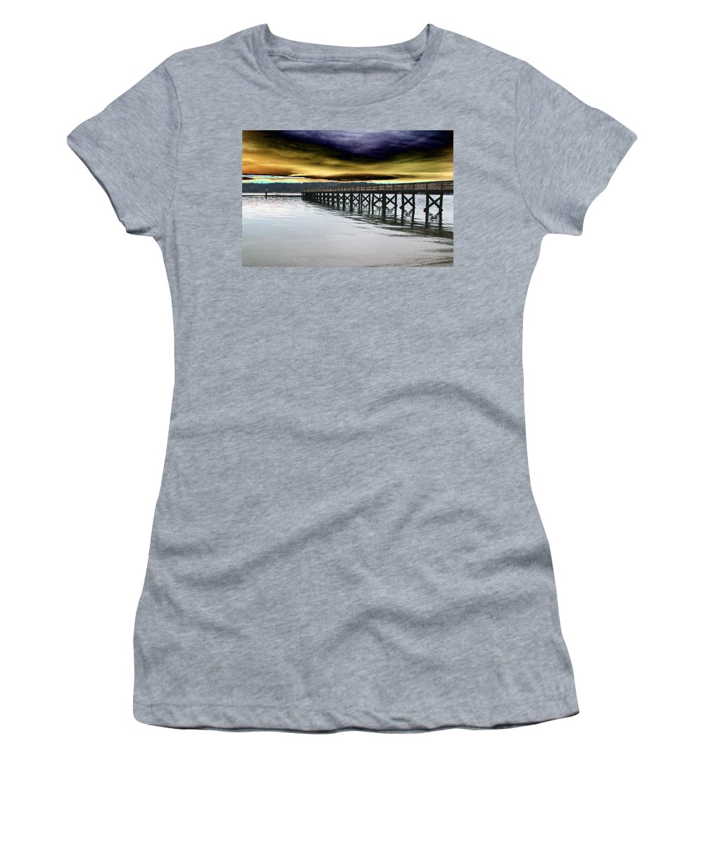 Clouds Women's T-Shirt (Athletic Fit) featuring the photograph Clouds Over Illahee by Tim Allen