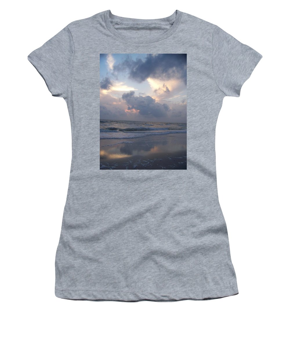 Rain Women's T-Shirt (Athletic Fit) featuring the photograph Cloudy Day In Naples by Laurie Paci