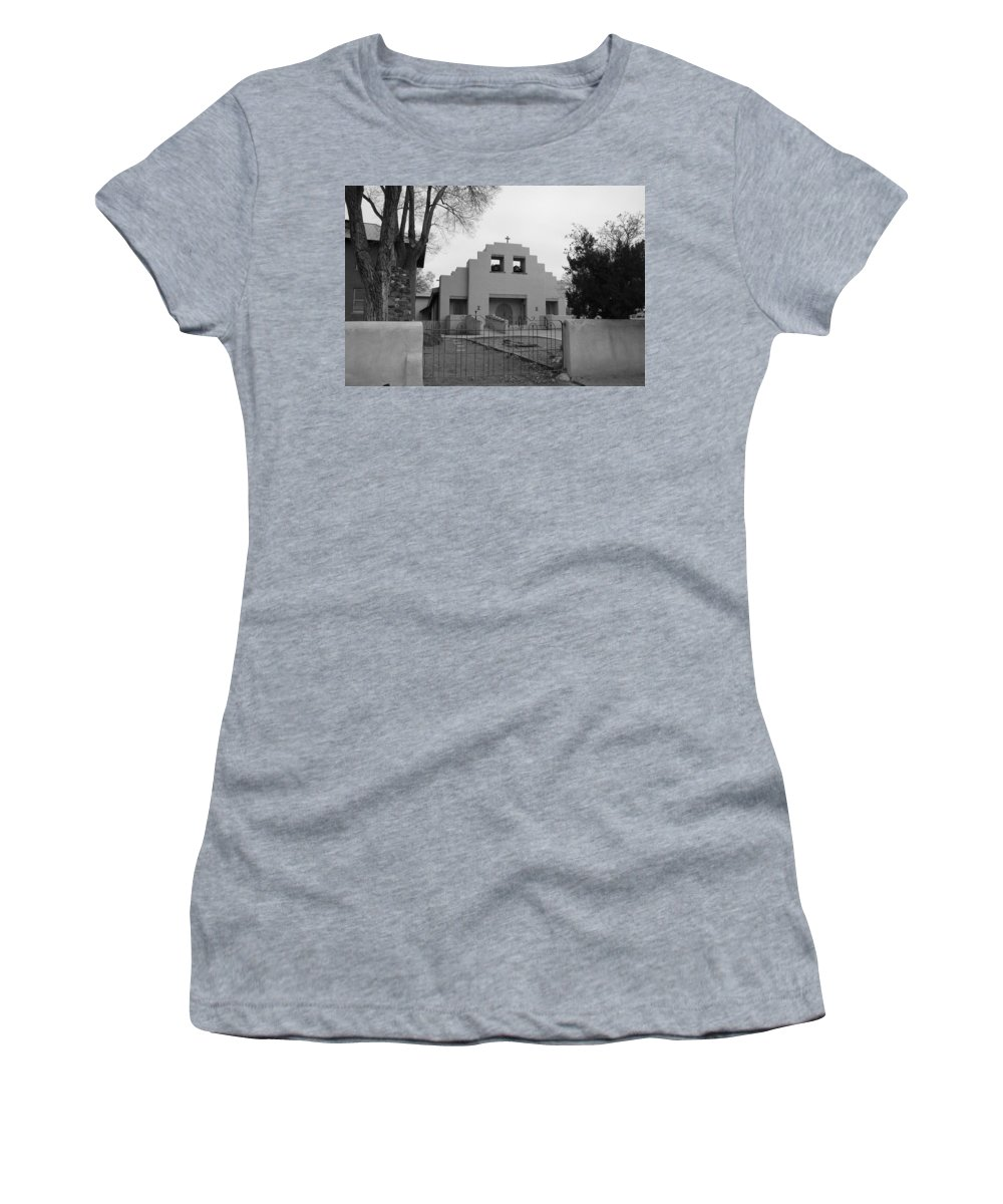 Architecture Women's T-Shirt (Athletic Fit) featuring the photograph Cochiti Church by Rob Hans