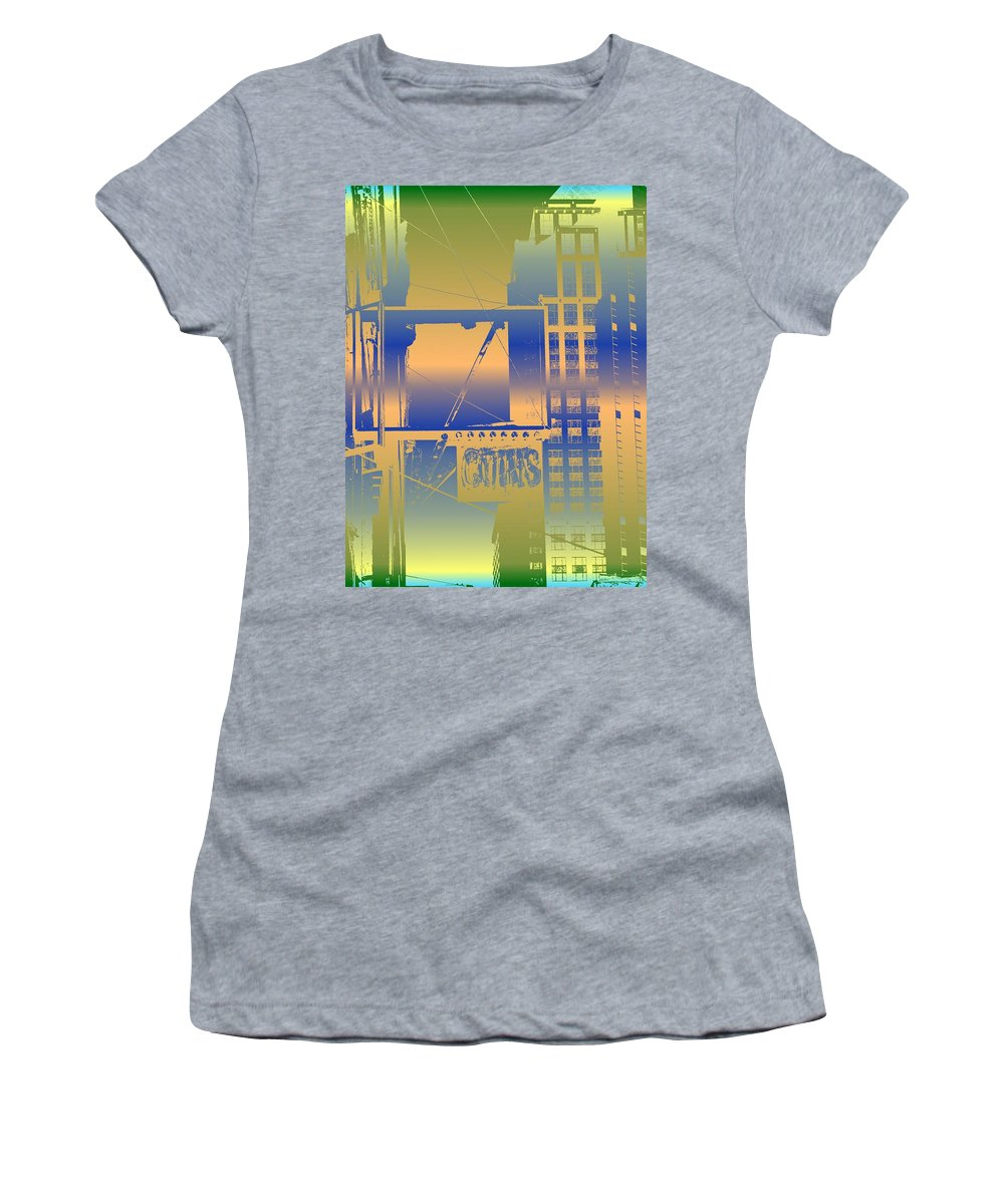 Seattle Women's T-Shirt (Athletic Fit) featuring the digital art Coins by Tim Allen