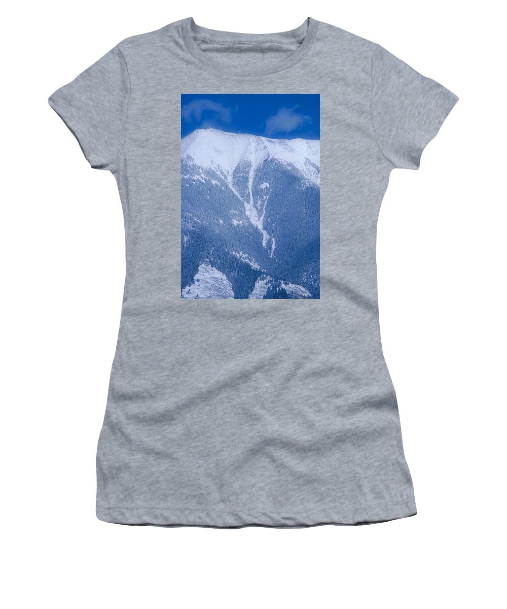 Mountain Women's T-Shirt featuring the photograph Cold Mountain by Jerry McElroy